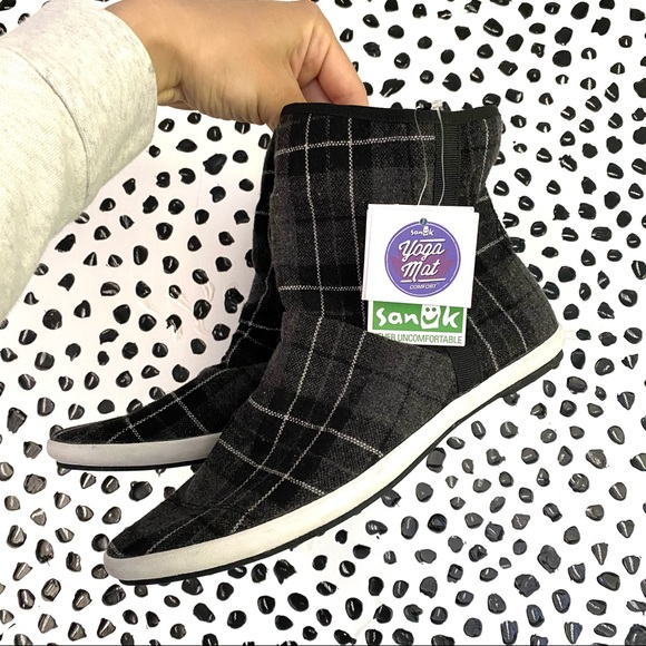 Sanuk Kat Sphynx Plaid black Boot